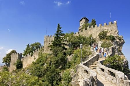 Castle della Guaita in the old town of San Marino Stock Photo - 24112635