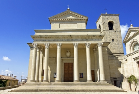 enclave: San Marino  Piazzale Domus Plebis Stock Photo