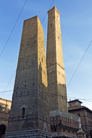 bologna: view of asinelli tower - bologna, italy