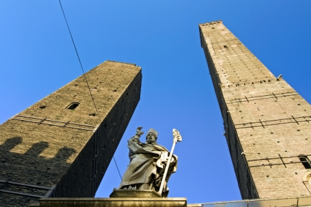 view of asinelli tower - bologna