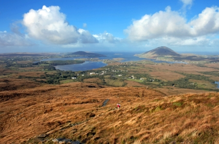 view of connemara - ireland  photo
