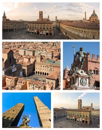 collage of bologna, emilia romagna - italy Archivio Fotografico