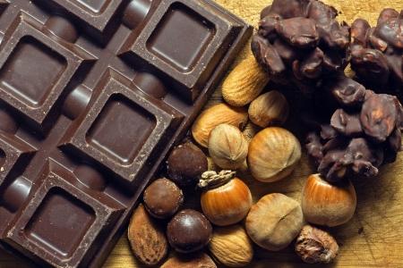 chocolate with ingredients - cioccolato e ingredienti Banco de Imagens