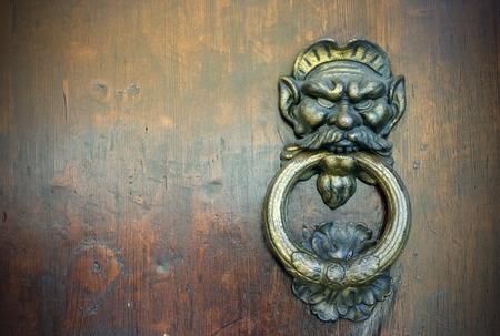 doorknocker: a old door knocker Stock Photo