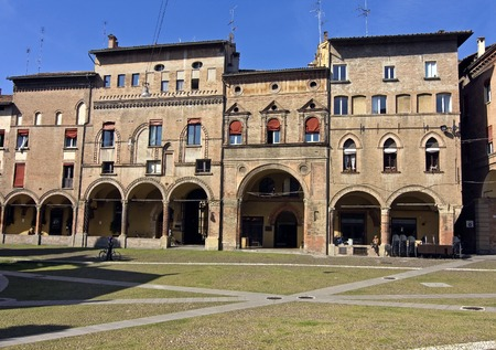 catholicity: arcades  in stephan square - bologna