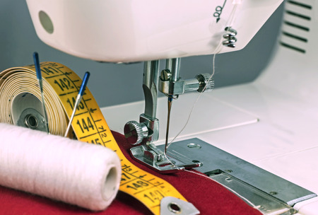 a sewing machine - still life