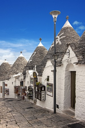 unique characteristics: view of Alberobello - Puglia, italy Stock Photo