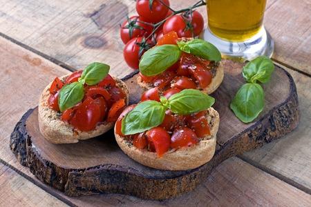 Italian starter friselle - puglia, italy Archivio Fotografico