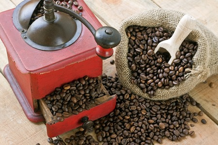 grinder machine: coffee grinder on background - still life