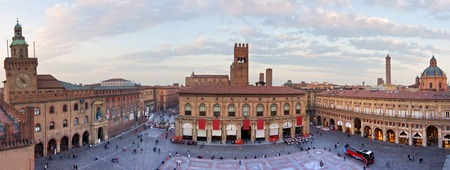 bologna: view of the main square - bologna, italy
