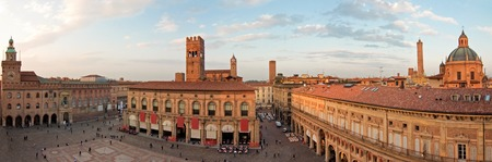 architectural architectonic: A panoramic view of main square - bologna, italy