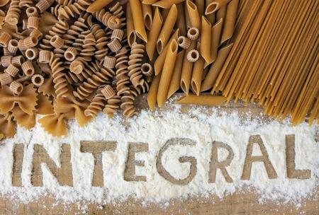 integral: variety of integrals pasta Stock Photo