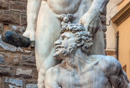 episodes: Statue of Hercules and cacus - piazza della Signoria - Florence - Italy