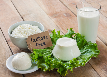 ricotta cheese: lactose free intolerance - food with background