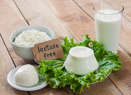 lactosevrij intolerantie - voedsel met achtergrond
