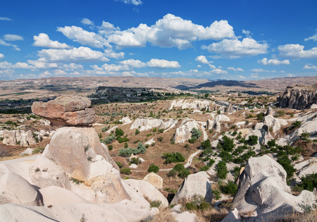 goreme: Panoramic view of Cappadocia - Turkey
