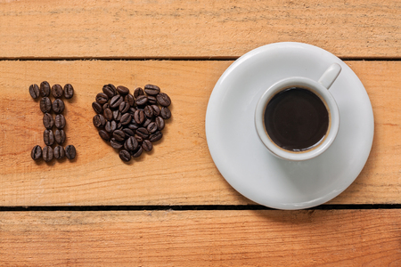 i love coffee - food with background