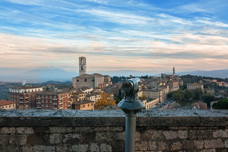 cattedrale: Panoramic view of Perugia - Italy, umbria