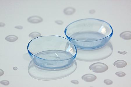 lentes de contacto: lentes de contacto - macro Foto de archivo