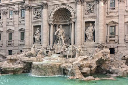 Panoramic vie of Trevi's fountain - Roma, Italy Archivio Fotografico