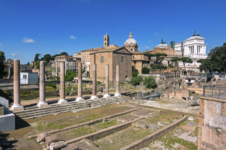 rodi: Panoramic view of imperial forum - Rome, Italy