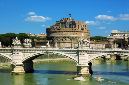 castel: View of castel Sant Angelo - Rome, Italy Editorial