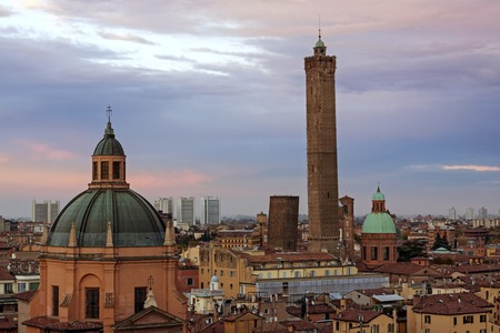 View of Bologna - torri asinelli, Italy