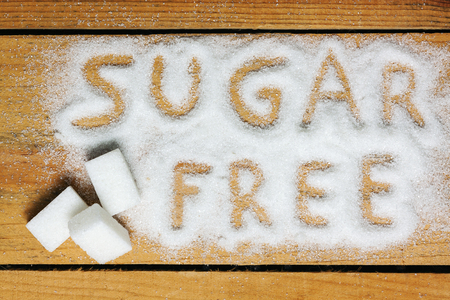 a sugar free word with background - food Stock Photo