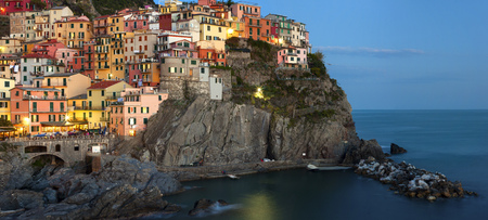 Panoramic view of Manarola - Cinque terre, Italy