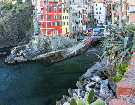 Panoramic view of Riomaggiore - italy, Liguria