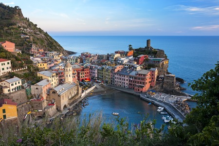 Panoramic view of Vernazza - italy, Liguria