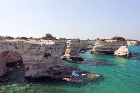 Panoramic view of Sant Andrea - Apulia, Salento Reklamní fotografie
