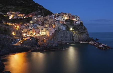 Panoramic view of Manarola - italy, Liguria