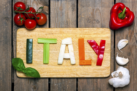 italian tricolor with background - food