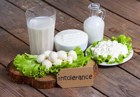 milk, yogurt, mozzarella and cheese with background - lactose intolerance food