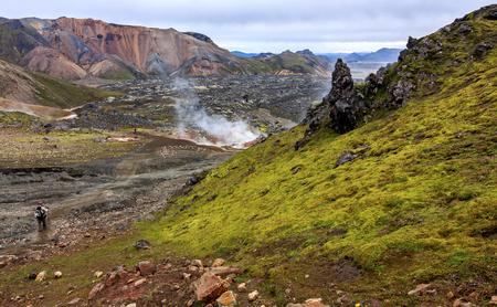 Geothermal springs in Iceland - landmark Reklamní fotografie