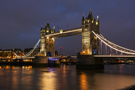Tower Bridge that crosses River Thames in London