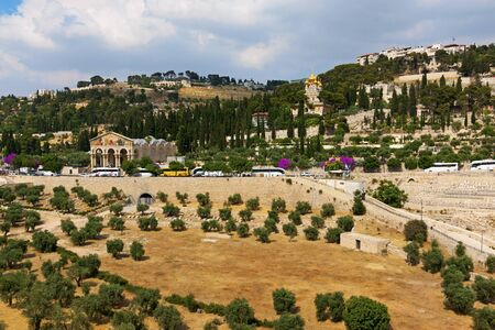 Israel. Jerusalem. Old city. The south wall. View of the Mount of Olives