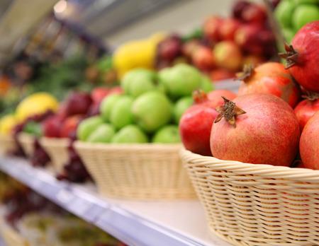 vegetables supermarket: fruit background. fruit shop Stock Photo
