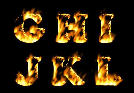 flame alphabet: Fire alphabet, Fire text collection. Alphabet of flame