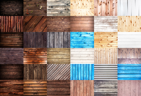 wood textures: Various wood textures. Big set of wooden backgrounds for web design. Stock Photo