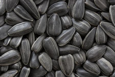 semillas de girasol: Black sunflower seeds. For texture or background Foto de archivo