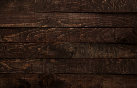 Dark brown wood background or texture of plank