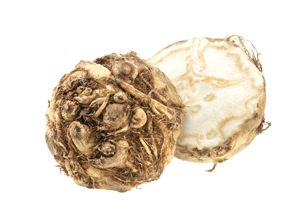 celery root: Celery root isolated on a white background, with clipping path