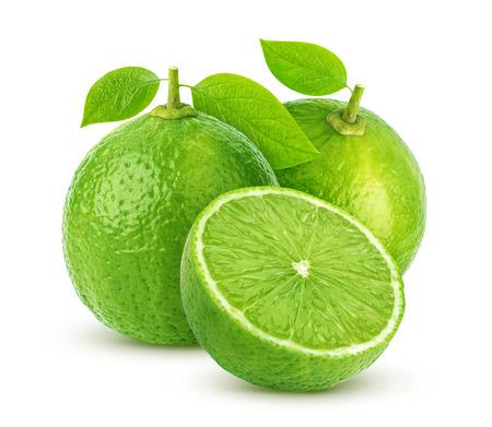lemon wedge: Lime isolated on white background