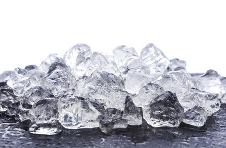 Crushed ice on white background