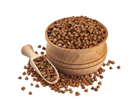 Buckwheat isolated on white background with clipping path 版權商用圖片