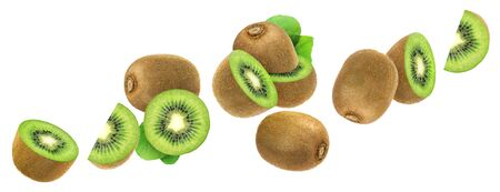 Kiwi isolated on white background with clipping path Stock Photo
