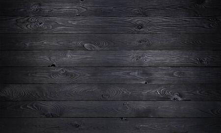 Fond en bois noir, texture de vieilles planches de bois