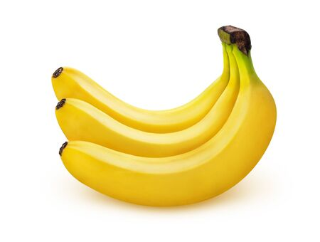 Banana isolated on white background with clipping path, bunch of bananas